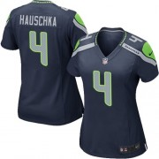 NFL Steven Hauschka Seattle Seahawks Women's Game Team Color Home Nike Jersey - Navy Blue
