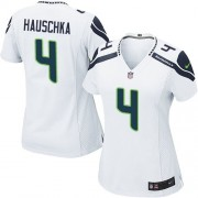 NFL Steven Hauschka Seattle Seahawks Women's Game Road Nike Jersey - White