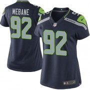NFL Brandon Mebane Seattle Seahawks Women's Limited Team Color Home Nike Jersey - Navy Blue