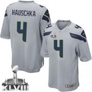 NFL Steven Hauschka Seattle Seahawks Youth Elite Alternate Super Bowl XLVIII Nike Jersey - Grey