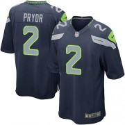 NFL Terrelle Pryor Seattle Seahawks Game Team Color Home Nike Jersey - Navy Blue