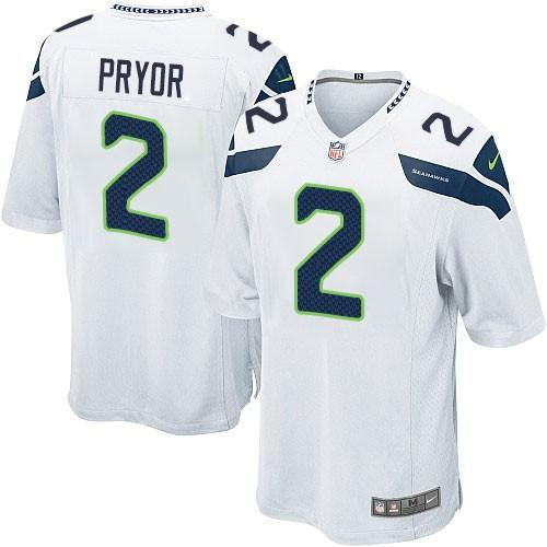 NFL Terrelle Pryor Seattle Seahawks Game Road Nike Jersey - White