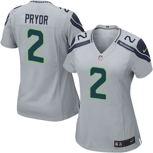NFL Terrelle Pryor Seattle Seahawks Women's Elite Alternate Nike Jersey - Grey