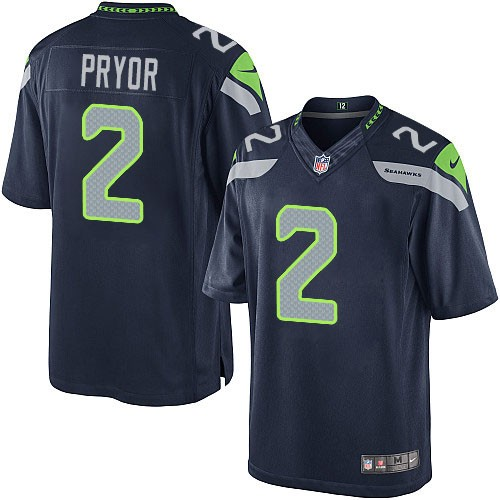 NFL Terrelle Pryor Seattle Seahawks Youth Elite Team Color Home Nike Jersey - Navy Blue
