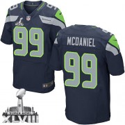 NFL Tony McDaniel Seattle Seahawks Elite Team Color Home Super Bowl XLVIII Nike Jersey - Navy Blue