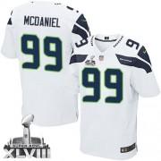 NFL Tony McDaniel Seattle Seahawks Elite Road Super Bowl XLVIII Nike Jersey - White