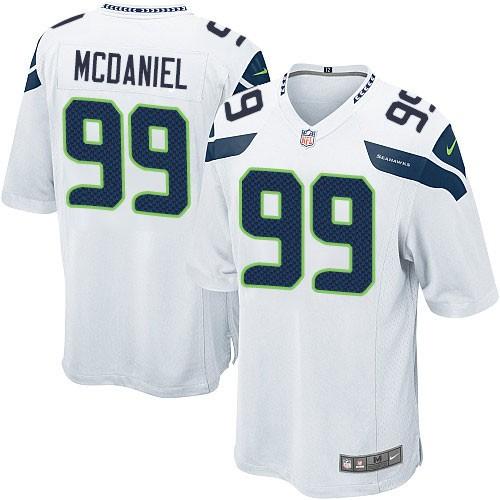 NFL Tony McDaniel Seattle Seahawks Game Road Nike Jersey - White