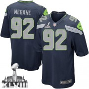 NFL Brandon Mebane Seattle Seahawks Youth Elite Team Color Home Super Bowl XLVIII Nike Jersey - Navy Blue