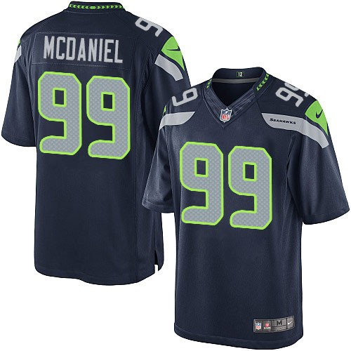 NFL Tony McDaniel Seattle Seahawks Limited Team Color Home Nike Jersey - Navy Blue