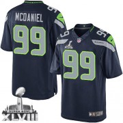 NFL Tony McDaniel Seattle Seahawks Limited Team Color Home Super Bowl XLVIII Nike Jersey - Navy Blue