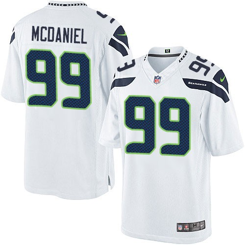 NFL Tony McDaniel Seattle Seahawks Limited Road Nike Jersey - White