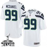 NFL Tony McDaniel Seattle Seahawks Limited Road Super Bowl XLVIII Nike Jersey - White