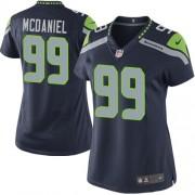 NFL Tony McDaniel Seattle Seahawks Women's Elite Team Color Home Nike Jersey - Navy Blue