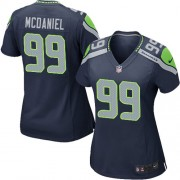 NFL Tony McDaniel Seattle Seahawks Women's Game Team Color Home Nike Jersey - Navy Blue