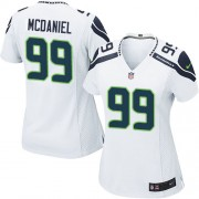 NFL Tony McDaniel Seattle Seahawks Women's Game Road Nike Jersey - White
