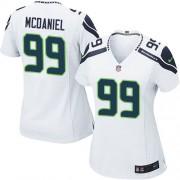 NFL Tony McDaniel Seattle Seahawks Women's Limited Road Nike Jersey - White