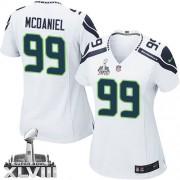 NFL Tony McDaniel Seattle Seahawks Women's Limited Road Super Bowl XLVIII Nike Jersey - White