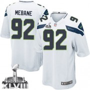 NFL Brandon Mebane Seattle Seahawks Youth Elite Road Super Bowl XLVIII Nike Jersey - White
