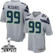 NFL Tony McDaniel Seattle Seahawks Youth Elite Alternate Super Bowl XLVIII Nike Jersey - Grey