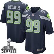 NFL Tony McDaniel Seattle Seahawks Youth Elite Team Color Home Super Bowl XLVIII Nike Jersey - Navy Blue