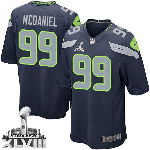 NFL Tony McDaniel Seattle Seahawks Youth Elite Team Color Home Super Bowl XLVIII Nike Jersey - Navy Blue