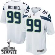NFL Tony McDaniel Seattle Seahawks Youth Elite Road Super Bowl XLVIII Nike Jersey - White