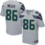 NFL Zach Miller Seattle Seahawks Elite Alternate Nike Jersey - Grey