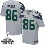 NFL Zach Miller Seattle Seahawks Elite Alternate Super Bowl XLVIII Nike Jersey - Grey