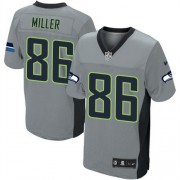 NFL Zach Miller Seattle Seahawks Elite Nike Jersey - Grey Shadow