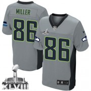 NFL Zach Miller Seattle Seahawks Elite Super Bowl XLVIII Nike Jersey - Grey Shadow