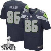 NFL Zach Miller Seattle Seahawks Elite Team Color Home Super Bowl XLVIII Nike Jersey - Navy Blue