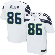 NFL Zach Miller Seattle Seahawks Elite Road Nike Jersey - White