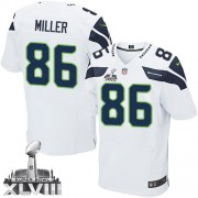 NFL Zach Miller Seattle Seahawks Elite Road Super Bowl XLVIII Nike Jersey - White