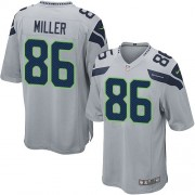NFL Zach Miller Seattle Seahawks Game Alternate Nike Jersey - Grey