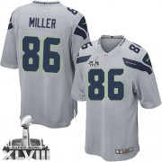 NFL Zach Miller Seattle Seahawks Game Alternate Super Bowl XLVIII Nike Jersey - Grey
