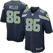 NFL Zach Miller Seattle Seahawks Game Team Color Home Nike Jersey - Navy Blue