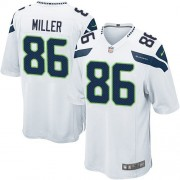 NFL Zach Miller Seattle Seahawks Game Road Nike Jersey - White