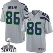 NFL Zach Miller Seattle Seahawks Limited Alternate Super Bowl XLVIII Nike Jersey - Grey