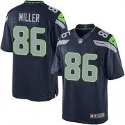 NFL Zach Miller Seattle Seahawks Limited Team Color Home Nike Jersey - Navy Blue