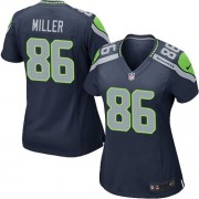 NFL Zach Miller Seattle Seahawks Women's Game Team Color Home Nike Jersey - Navy Blue