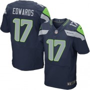 NFL Braylon Edwards Seattle Seahawks Elite Team Color Home Nike Jersey - Navy Blue