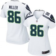 NFL Zach Miller Seattle Seahawks Women's Limited Road Nike Jersey - White