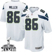 NFL Zach Miller Seattle Seahawks Youth Game Road Super Bowl XLVIII Nike Jersey - White