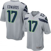 NFL Braylon Edwards Seattle Seahawks Game Alternate Nike Jersey - Grey