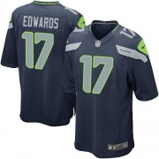 NFL Braylon Edwards Seattle Seahawks Game Team Color Home Nike Jersey - Navy Blue