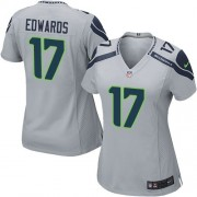 NFL Braylon Edwards Seattle Seahawks Women's Game Alternate Nike Jersey - Grey