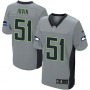 NFL Bruce Irvin Seattle Seahawks Elite Nike Jersey - Grey Shadow