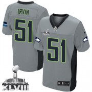 NFL Bruce Irvin Seattle Seahawks Elite Super Bowl XLVIII Nike Jersey - Grey Shadow