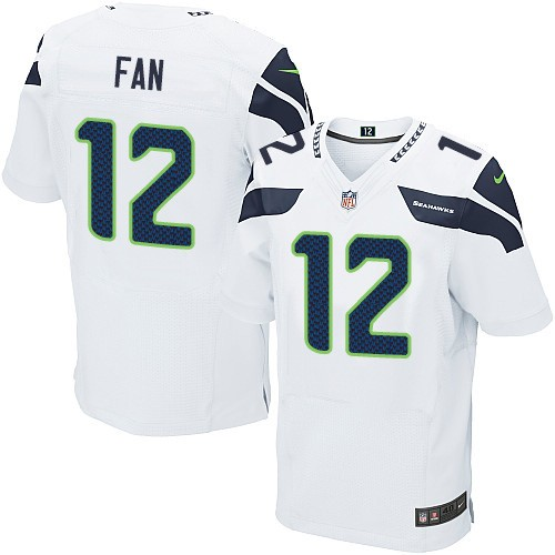 NFL 12th Fan Seattle Seahawks Elite Road Nike Jersey - White