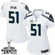NFL Bruce Irvin Seattle Seahawks Women's Elite Road Super Bowl XLVIII Nike Jersey - White